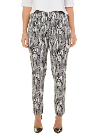 Plus Size Graphic Leaf Print Stretch Pants