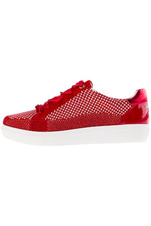 ulla popken -  ARA-Sneaker, Metallic-Details, Wovenstretch, Weite H - Große Größen