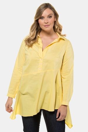 Tunique, base à pointes, détails chemise - Grande Taille - Ulla Popken - Modalova