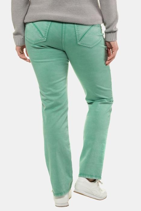 ULLA POPKEN Jeans Sammy Trendfarbe schmales Bein Knitterfalten beere NEU