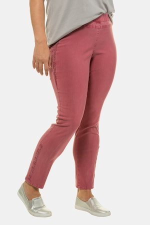 Plus Size Lace Trim Side Bengaline Sienna Fit Stretch Pants