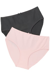8a7f110ccc3 2 Pack of Stretch Cotton Panties - Grey, Pink