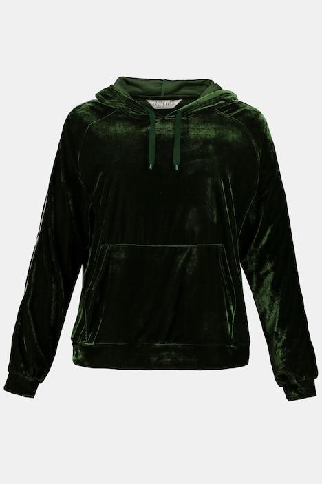 Hoodie, Samt, Ärmelstreifen, Kapuze   alle Sweatshirts