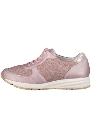 Image of Große Größen Leder-Sneaker Damen (Größe 38, zartrosa) | Ulla Popken Comfortschuhe | Leder/Textil