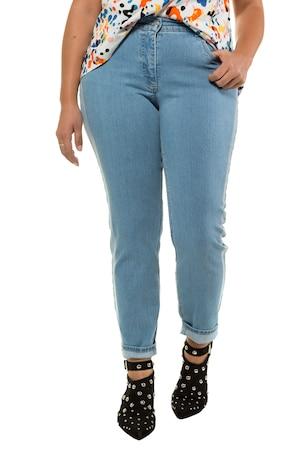 9293f6f640844 Ulla Popken Jeans, Röhre, heller Galonstreifen, 5-Pocket - Große Größen in