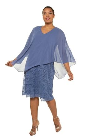 Image of Große Größen Abendkleid Damen (Größe 46 48, palastblau)   Ulla Popken Festliche Kleider   Polyester