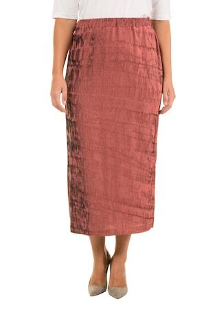 62028e68650995 Ulla Popken Rock, changierend, Gummibund, selection - Große Größen in rosa