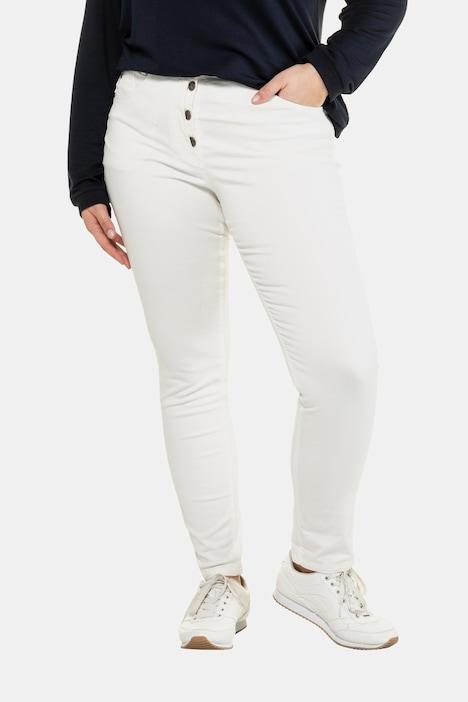 Image of Grosse Grössen Curvy-Jeans, Damen, weiß, Größe: 44, Baumwolle, Ulla Popken
