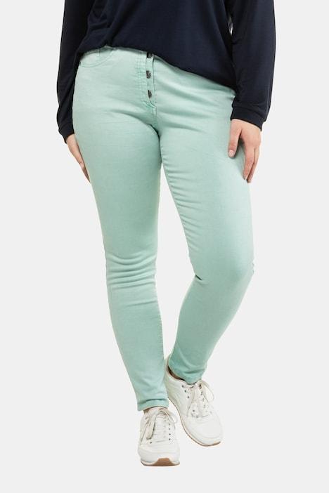 Image of Grosse Grössen Curvy-Jeans, Damen, türkis, Größe: 44, Baumwolle, Ulla Popken