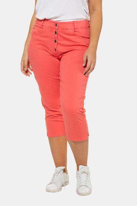 Image of Grosse Grössen Jeans-Capri, Damen, rot, Größe: 42, Baumwolle, Ulla Popken