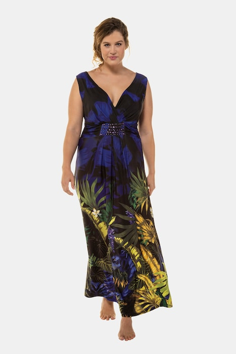 Jungle Tiger Print Stretch Knit Maxi Tank Dress | 72208790