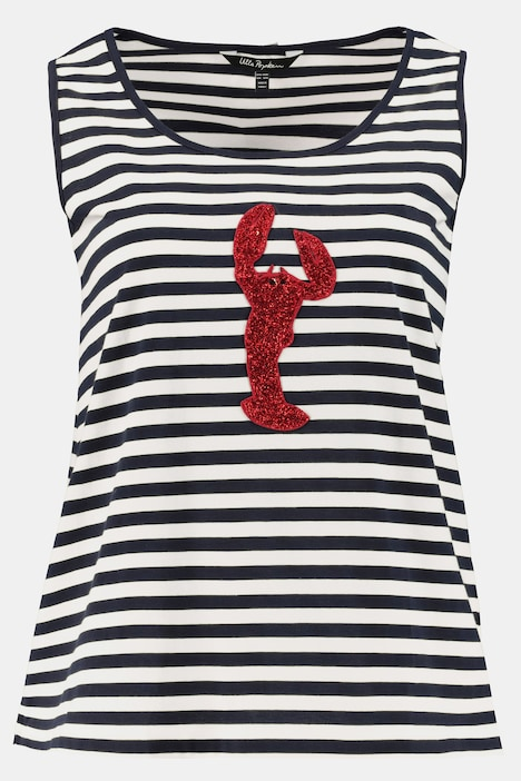 Glitter Lobster Applique Cotton Tank