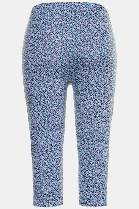 Dot Print Stretch Cotton Capri Leggings Capri Pants Pants Ulla Popken Europe