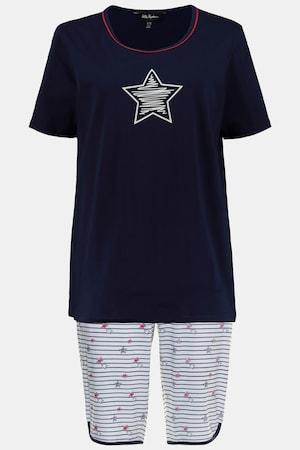 Pyjacourt, jersey, étoiles et rayures - Grande Taille - Ulla Popken - Modalova