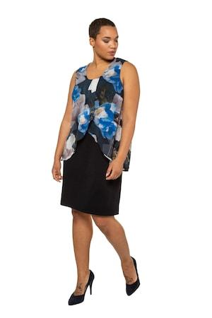 Image of Große Größen Abendkleid Damen (Größe 42 44, marine)   Ulla Popken Festliche Kleider   Polyester