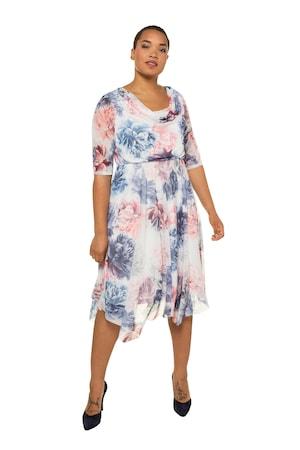 Image of Große Größen Abendkleid Damen (Größe 42 44, offwhite-atlantikblau)   Ulla Popken Festliche Kleider   Polyester