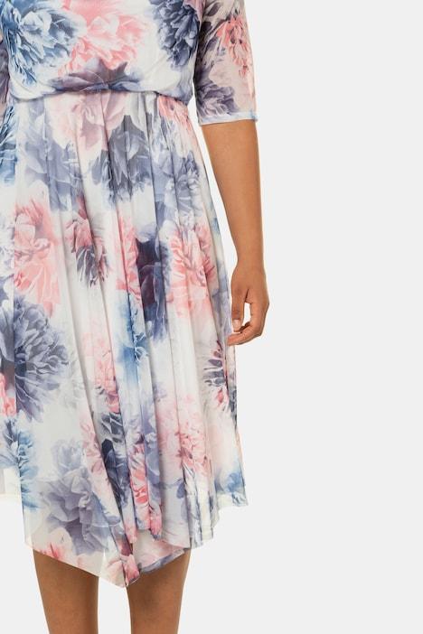 Abendkleid Vintage Bluten Mesh Jersey Unterkleid Weitere Kleider Kleider Ulla Popken Deutschland