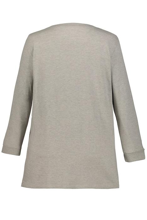 Sweatshirt, Zierperlen, Regular, innen kuschelig angeraut
