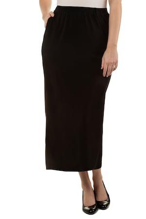 Plus Size Matte Jersey Straight Knit Skirt