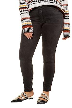 aa41443595 Ulla Popken Skinny Jeans, Ethno-Galon, schmale 5-Pocket - Große Größen
