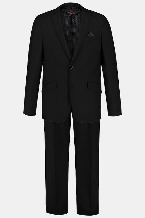 Image of Grosse Grössen 2-teiliger Traveller-Anzug, Herren, schwarz, Größe: 26, Polyester/Wolle, JP1880