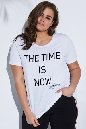 Ulla Popken Statement Shirt mit Designer-Signatur - Große Größen