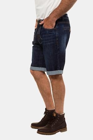 Duże rozmiary Ludowe bermudy, mężczyzna, dark blue, rozmiar: 64, bawełna/elastan, JP1880