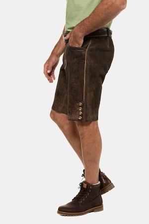 Duże rozmiary Ludowe spodnie, mężczyzna, brązowe, rozmiar: 52, skóra, JP1880