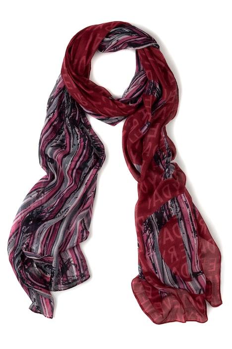haute couture Beau design sélectionner pour le dédouanement Écharpe, mix de rayures et calligraphie | Écharpes ...