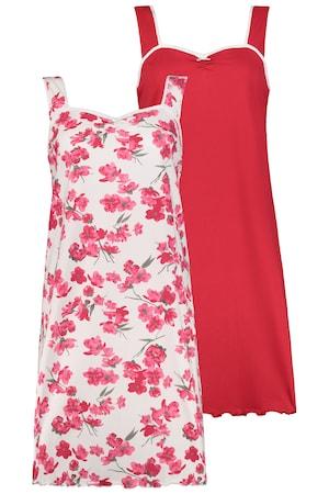 Image of Große Größen Big-Shirt 2er Pack Damen (Größe 42 44, multicolor)   Ulla Popken Blumenprints   Baumwolle