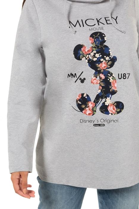 Longsweater, mickey Mouse motief, wijde opstaande kraag