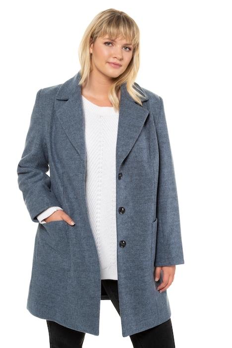 Langarm Mantel Revers Wolloptik Ulla Popken Damen