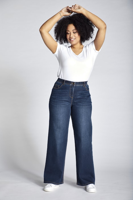 Great Lengths Mary Fit Wide Leg Stretch Jeans | Skinny Fit