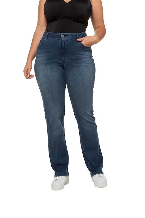 Jeans Mandy, Used Look, gerades Bein, 5 Pocket Form