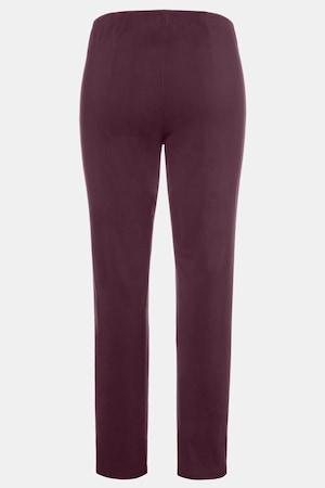 Duże rozmiary Spodnie z bengaliny, damska, ciemne bordowe, rozmiar: 21, wiskoza/poliamid/elastan, Ulla Popken