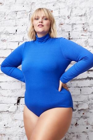 Image of Große Größen Body mit Rollkragen Damen (Größe 46 48, royalblau) | Ulla Popken Influencer Collection | Viskose/Elasthan