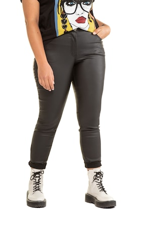 Plus Size Coated Denim Stretch Skinny Pants