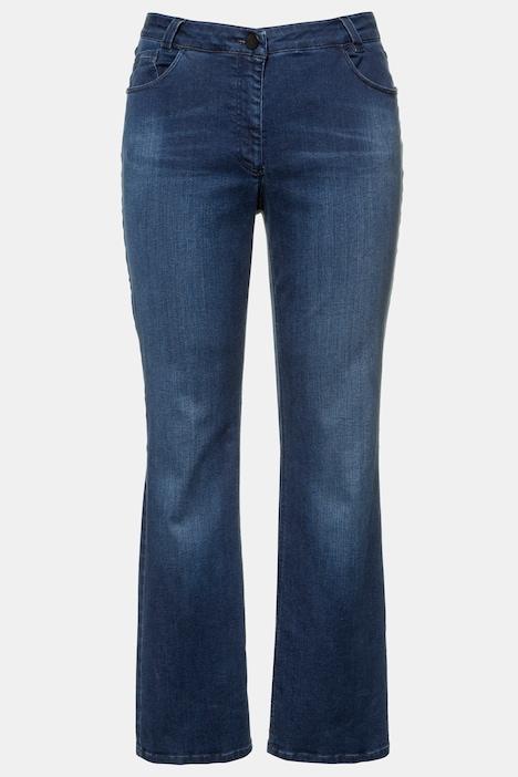 Image of Grosse Grössen Bootcut-Jeans, Damen, blau, Größe: 27, Baumwolle/Synthetische Fasern, Ulla Popken
