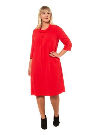 Plus Size Soft Crepe Turtleneck Dress
