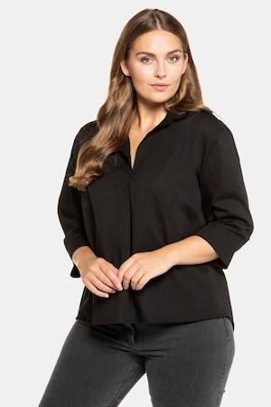 Tunique oversize, col chemise, base arrondie - Grande Taille - Ulla Popken - Modalova