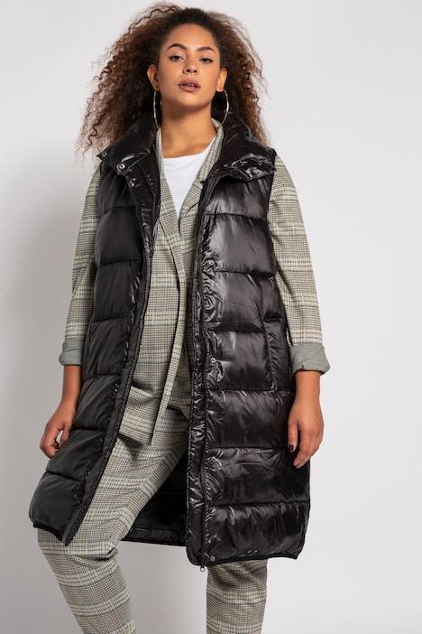 Ulla Popken Womens Lange Weste Mit Gerundeten Taschen Long Vest with Rounded Pockets