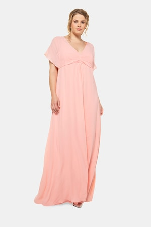 Regency Dress, Shoes | Jane Austen Clothing Plus Size Sheer Chiffon Lined Maxi Occasion Dress $149.95 AT vintagedancer.com