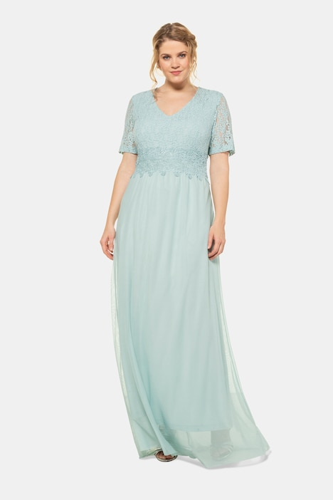 Elegant Lace Chiffon V-Neck Occasion Maxi Dress   More ...