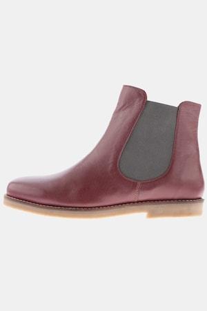 Boots Chelsea, zip, talon 2cm, larg. H - Grande Taille