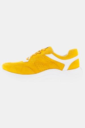 Sneakers en cuir, rayures, talon compensé - Grande Taille