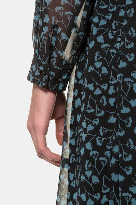 Blusenkleid, geblümter Chiffon, Jersey-Unterkleid ...
