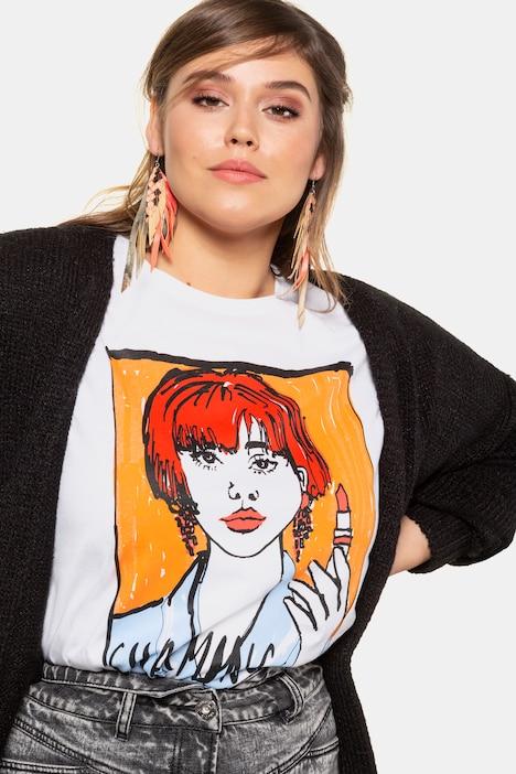 ULLA POPKEN Cardigan mit Leo-Jacquard multicolour NEU
