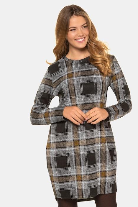 Kleid, Karo, Langarm | weitere Kleider | Kleider | Gina Laura