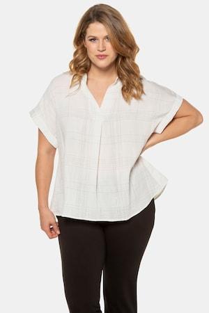 Tunique, oversize, col chemise ouvert - Grande Taille - Ulla Popken - Modalova