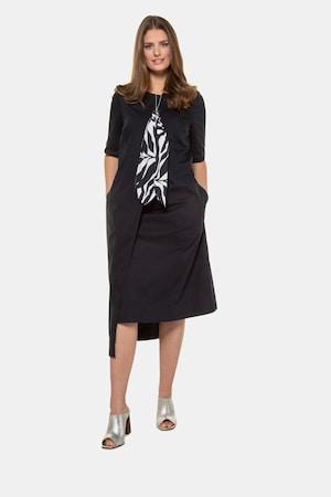 Robe, foulard imprimé, look superposition - Grande Taille